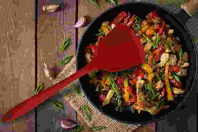 the Helen's Asian Kitchen Silicone Wok Spatula is a useful asian cooking utensil