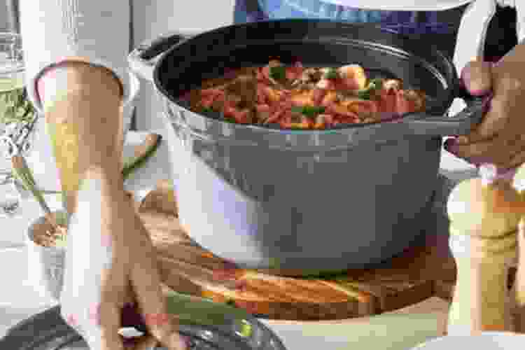 the Staub Tall Cocotte 5 QT is one of the best cast iron pans