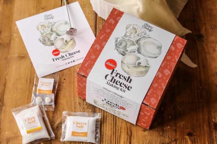 the FarmSteady Italian Fresh Cheese Making Kit is a great housewarming gift