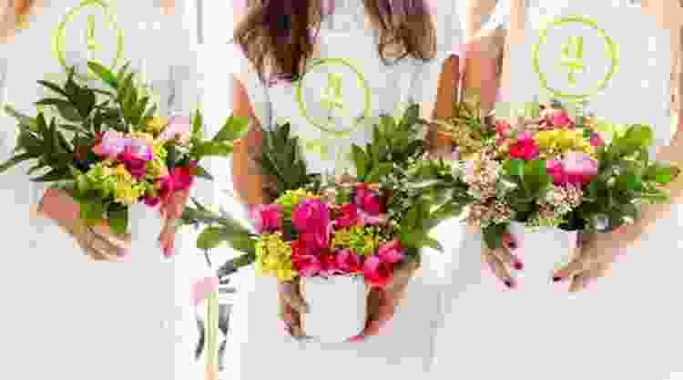 women taking a floral arranging class