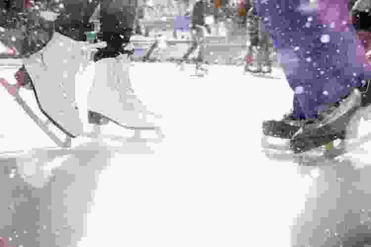 ice skating is a fun date idea in dallas