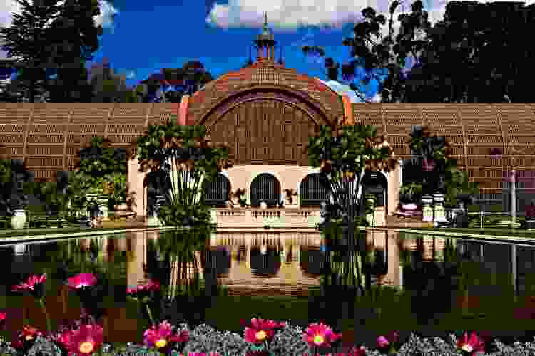 relaxing in balboa park is a great team building activity in san diego