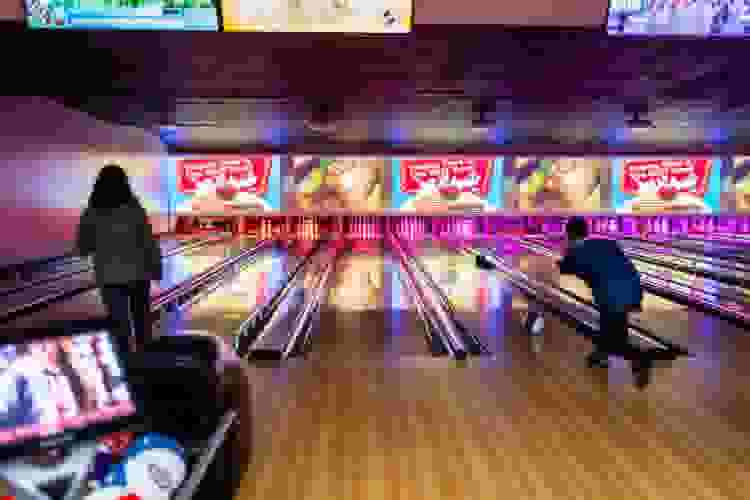 bowling is a fun girls night idea