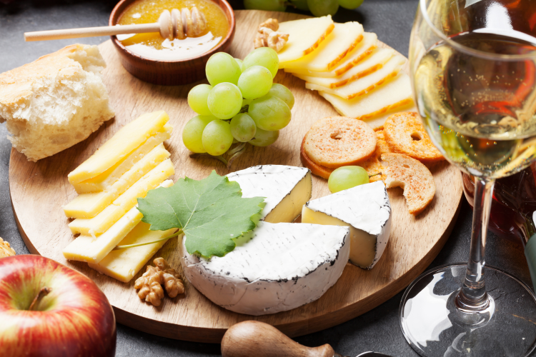 host a wine and cheese tasting night for a holiday work party