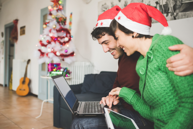choose a theme and platform for your virtual holiday party