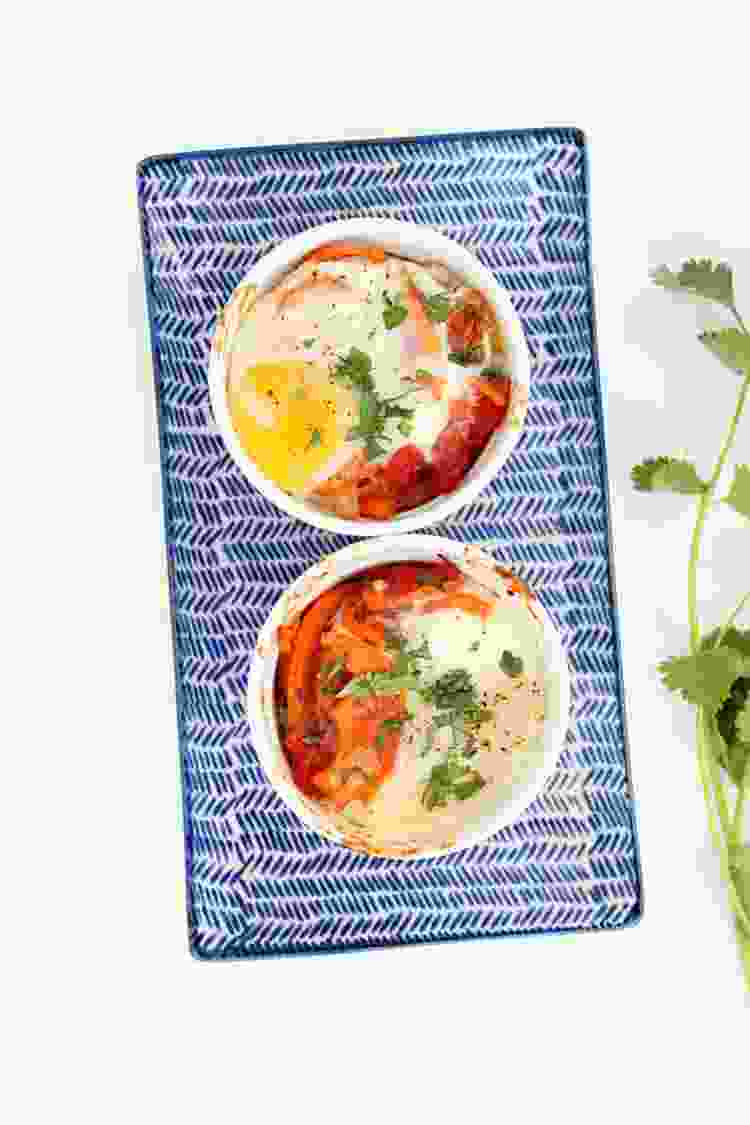 baked egg and sweet potato bowl from inspiralized