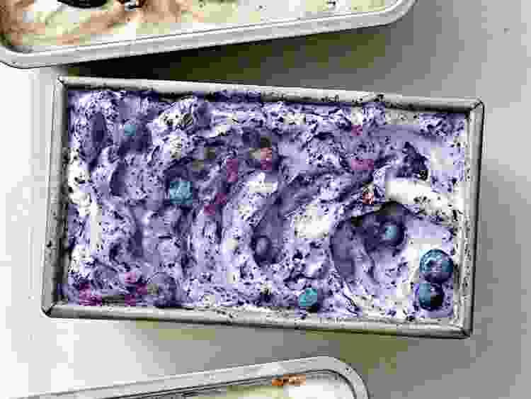 Blueberry Lemon Ice Cream