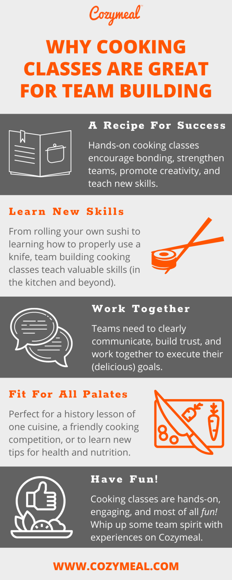 cooking classes and competitions are perfect for virtual team building activties