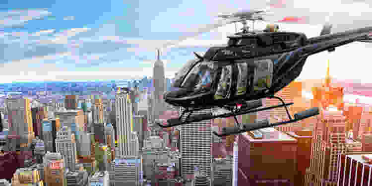 A helicopter tour makes for a great date night in NYC!