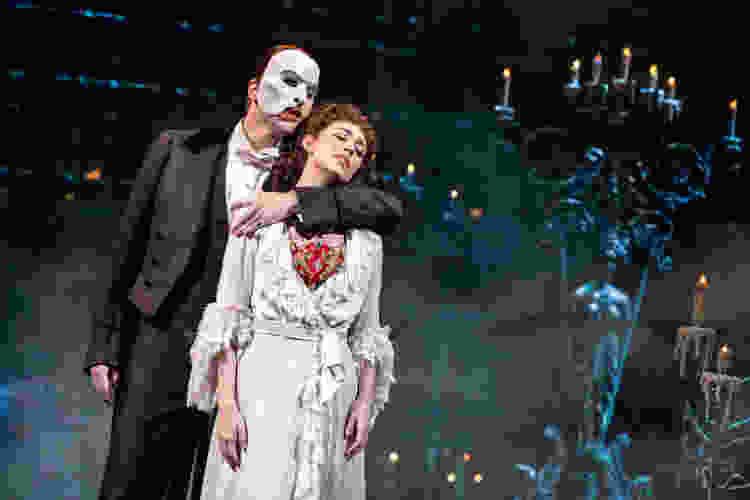 the actors on broadway's the phantom of the opera