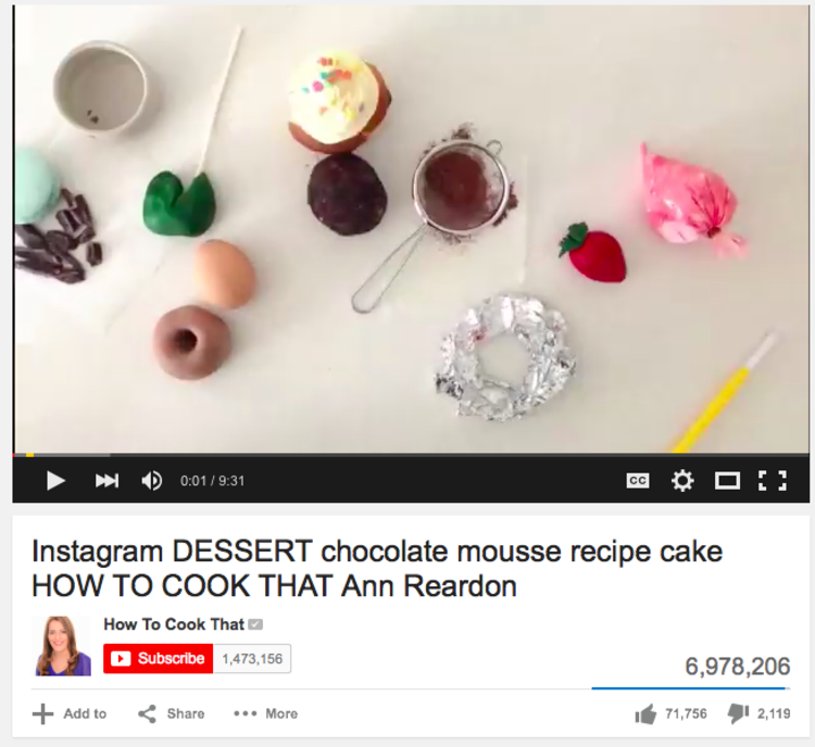 Instagram cake video