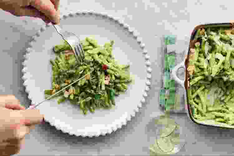 greens mac and cheese is a must try recipe for spring