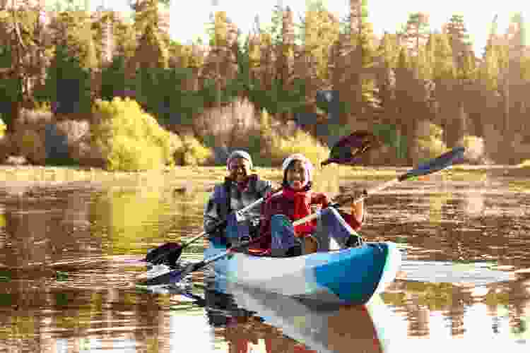 kayaking is a fun mother's day activity