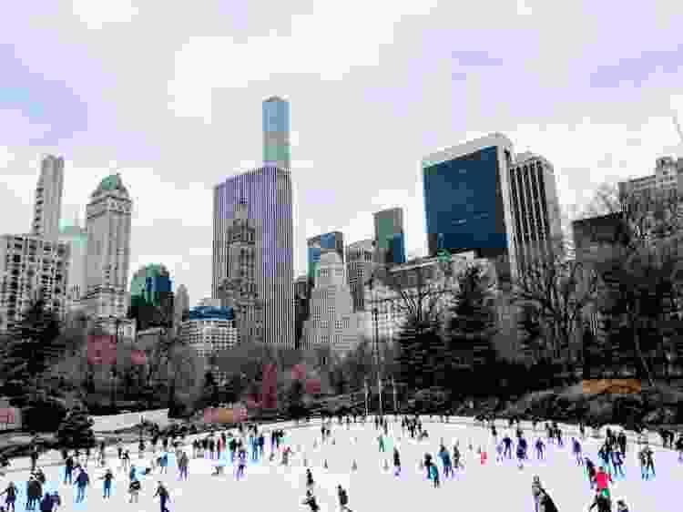 city ice skating rink