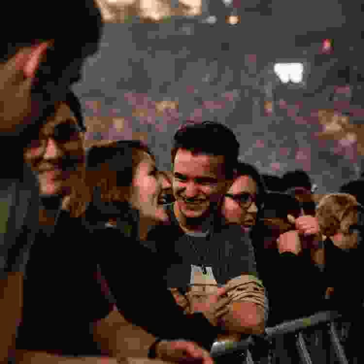 couple enjoying a concert