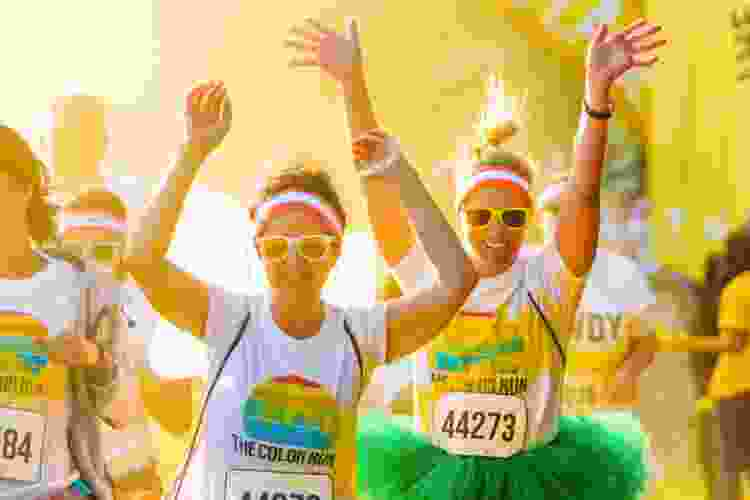 participants in the color run race