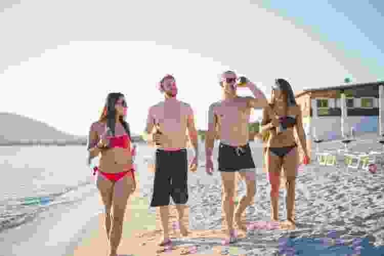 a beach day is a fun outdoorsy double date idea