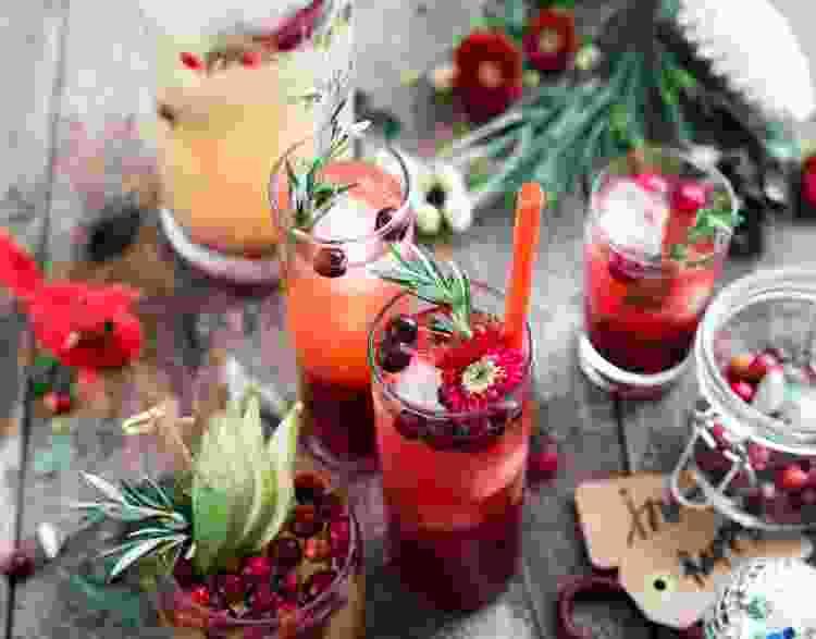 cocktails made during an online mixology class