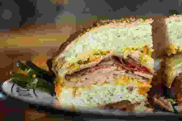muffaletta sandwich from cochon butcher
