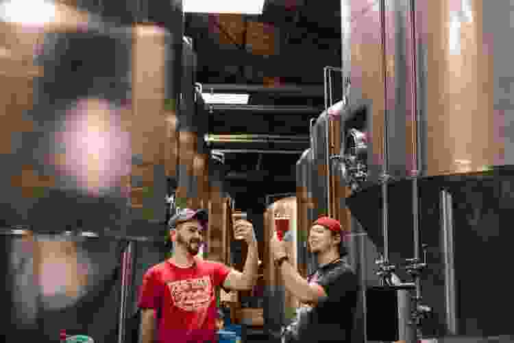 go on brewery tours for fun team building activities in austin