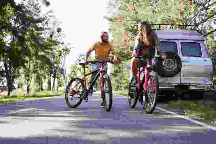 an evening bike ride is a fun date idea in denver