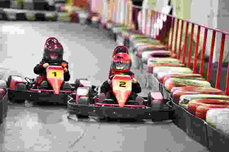 go-karting is an exciting date idea in denver