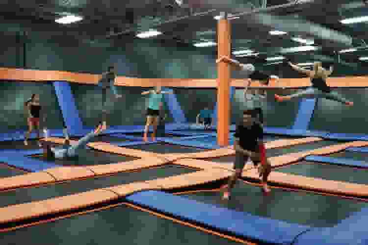 jump around at a trampoline park for a unique 40th birthday party idea