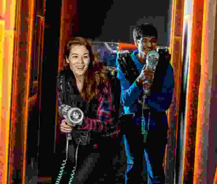 play laser tag for a 21st birthday idea that doesn't include a bar
