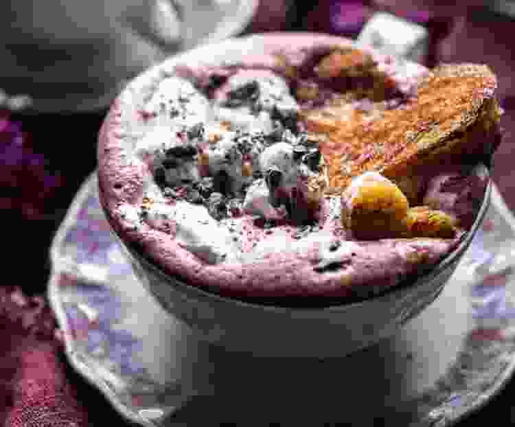 superfood hot chocolate is a sweet cold weather treat