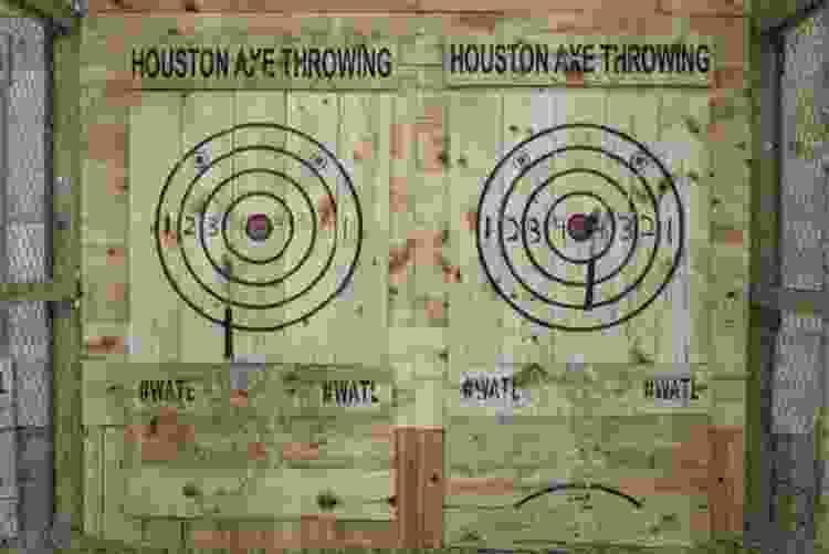 bullseye wall at houston axe