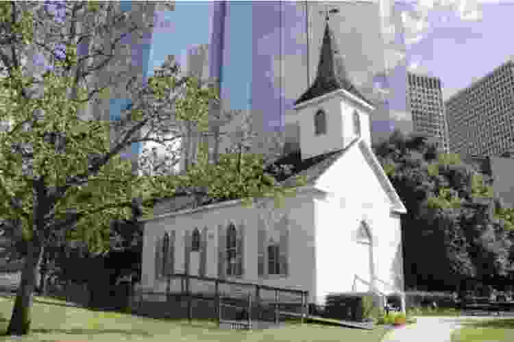 historical church that is part of the houston heritage society