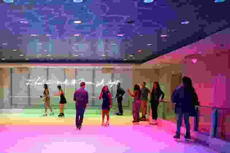 indoor ice skating at basement