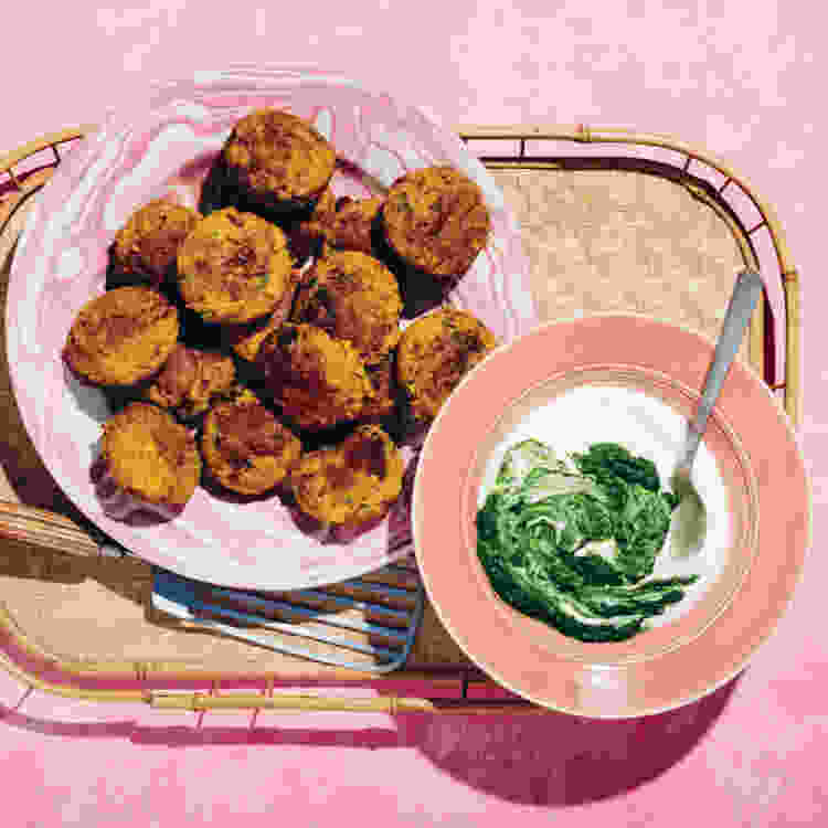 spiced lamb kebabs with fresh herbs is a spring recipe to brighten up your table