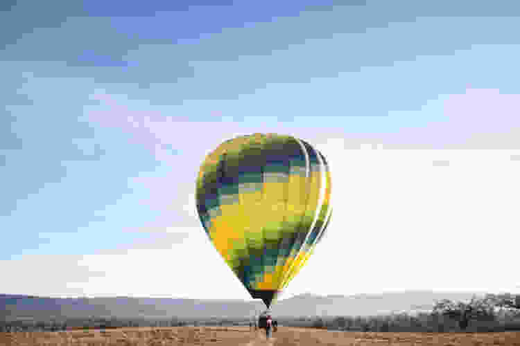 Take your 50th birthday party to new heights with a hot air balloon ride