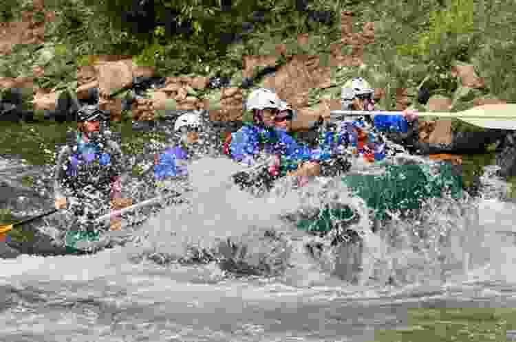 white water rafting is an exciting experience gift