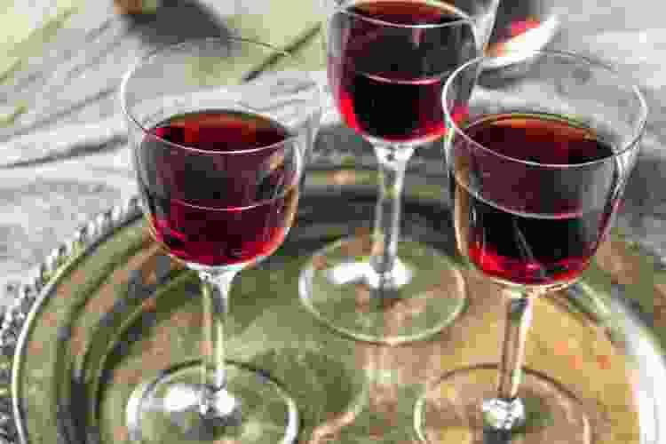 glasses of madeira wine