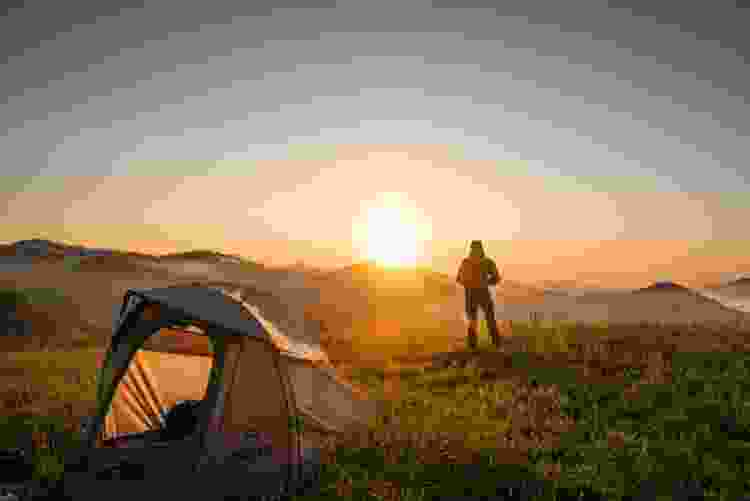 head out to the wilderness and go camping for a fun 40th birthday party idea
