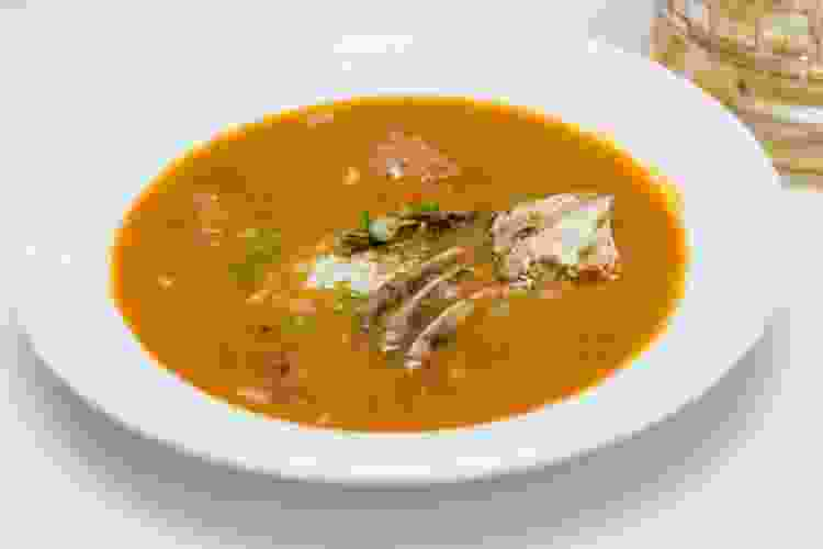 death by gumbo from restaurant r'evolution