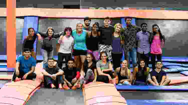 trampoline parks are great places for fun boston team building activities
