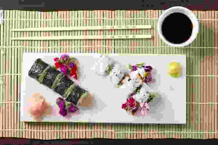 sharing a plate of sushi is a romantic Valentine's Day idea