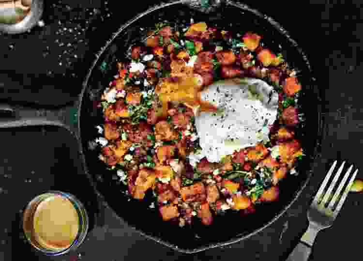 sweet potato hash is a delicious cold weather recipe