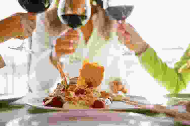 sweet wine with sweet food is a classic food and wine pairing