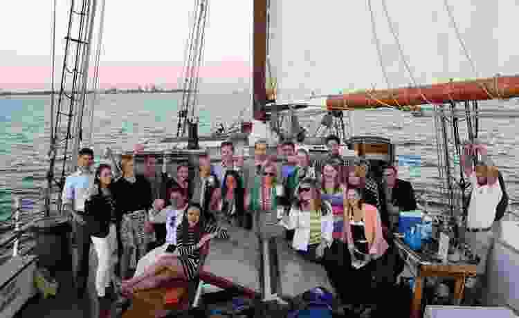 go sailing around boston for a fun team building activity