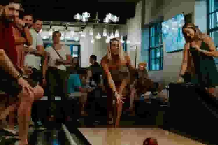 going bowling with friends is one of the best 40th birthday party ideas