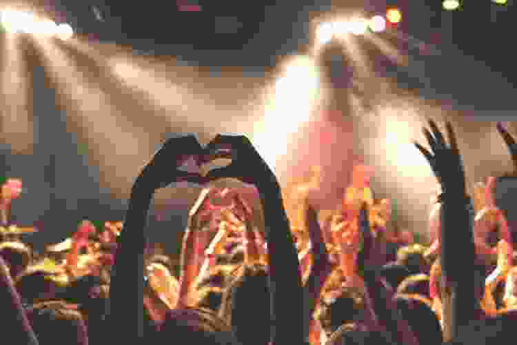 attending a concert is a romantic Valentine's Day idea