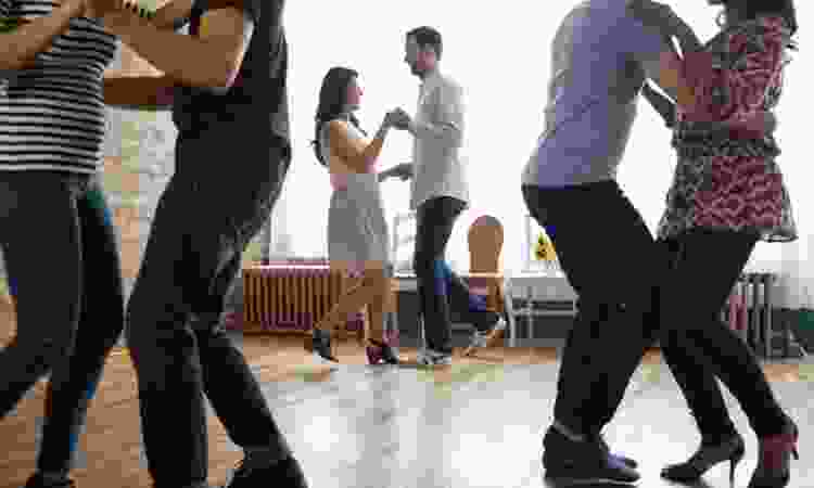 couples ballroom dancing