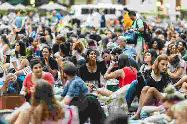 enjoy a movie on the lawn in bryant park