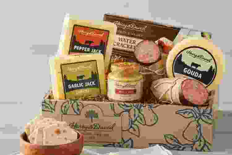 a meat and cheese gift box is a fun gift for neighbors