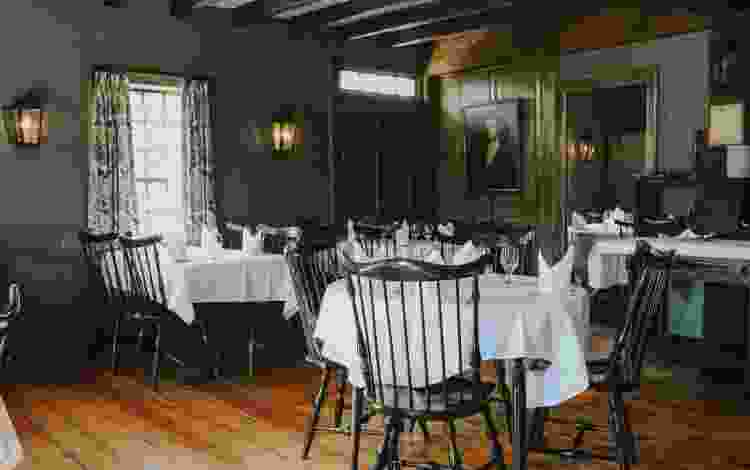 the white horse tavern in rhode island is one of the most warm and cozy restaurants in the u.s.