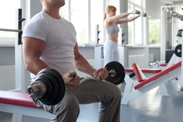 an onsite gym is a great perk at work